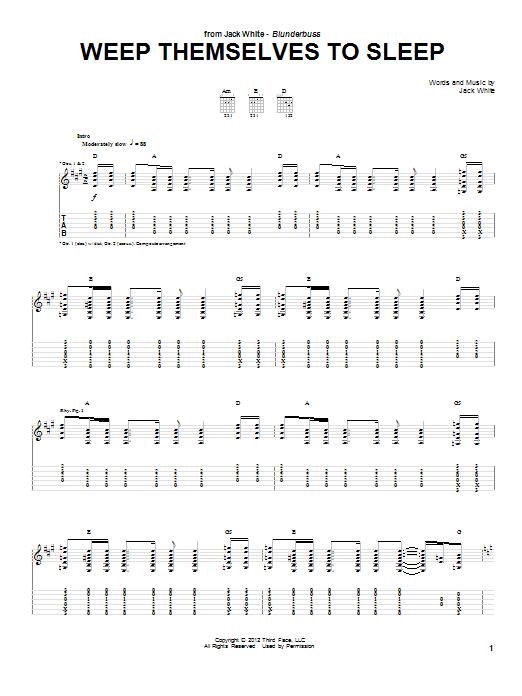 Weep Themselves To Sleep (Guitar Tab)