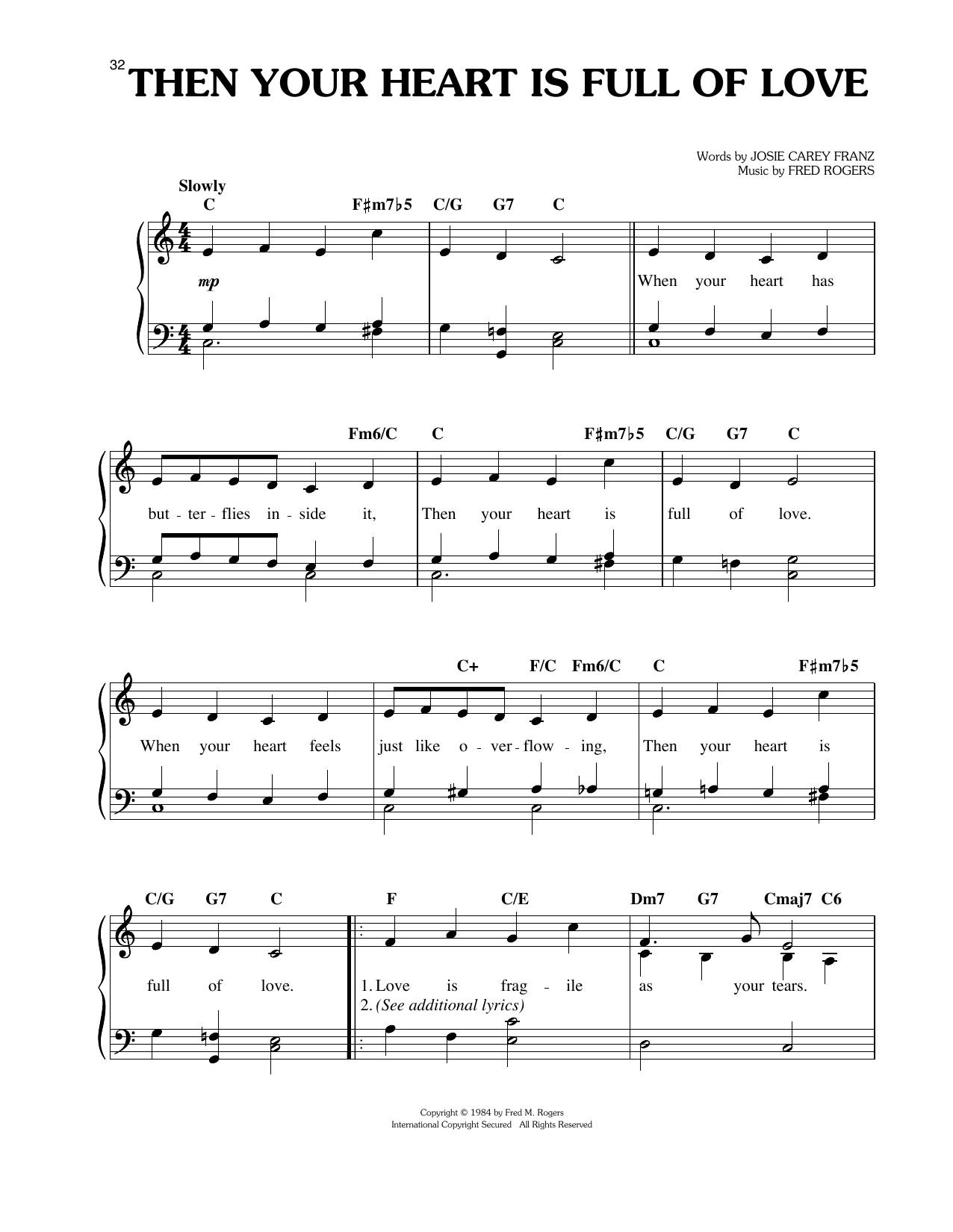 Then Your Heart Is Full Of Love Sheet Music