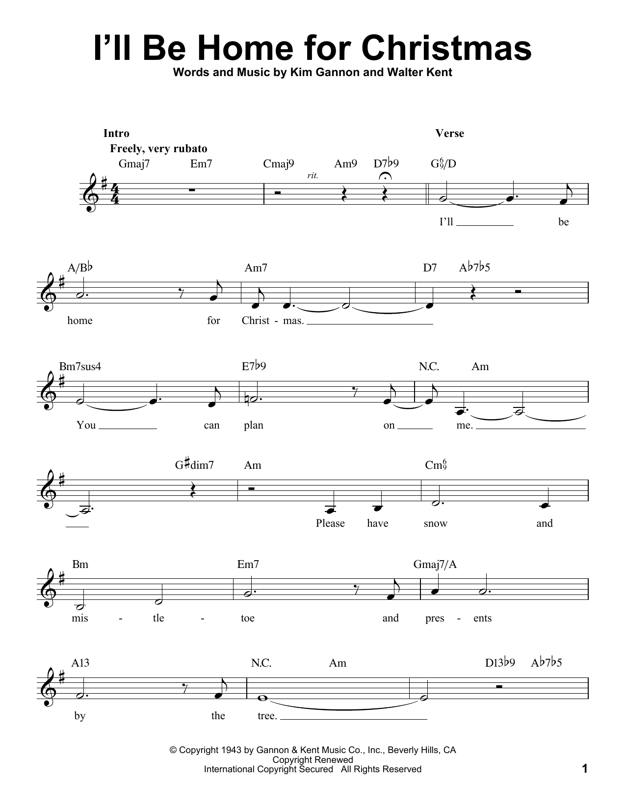 I\'ll Be Home For Christmas Sheet Music | Michael Bublé | Voice