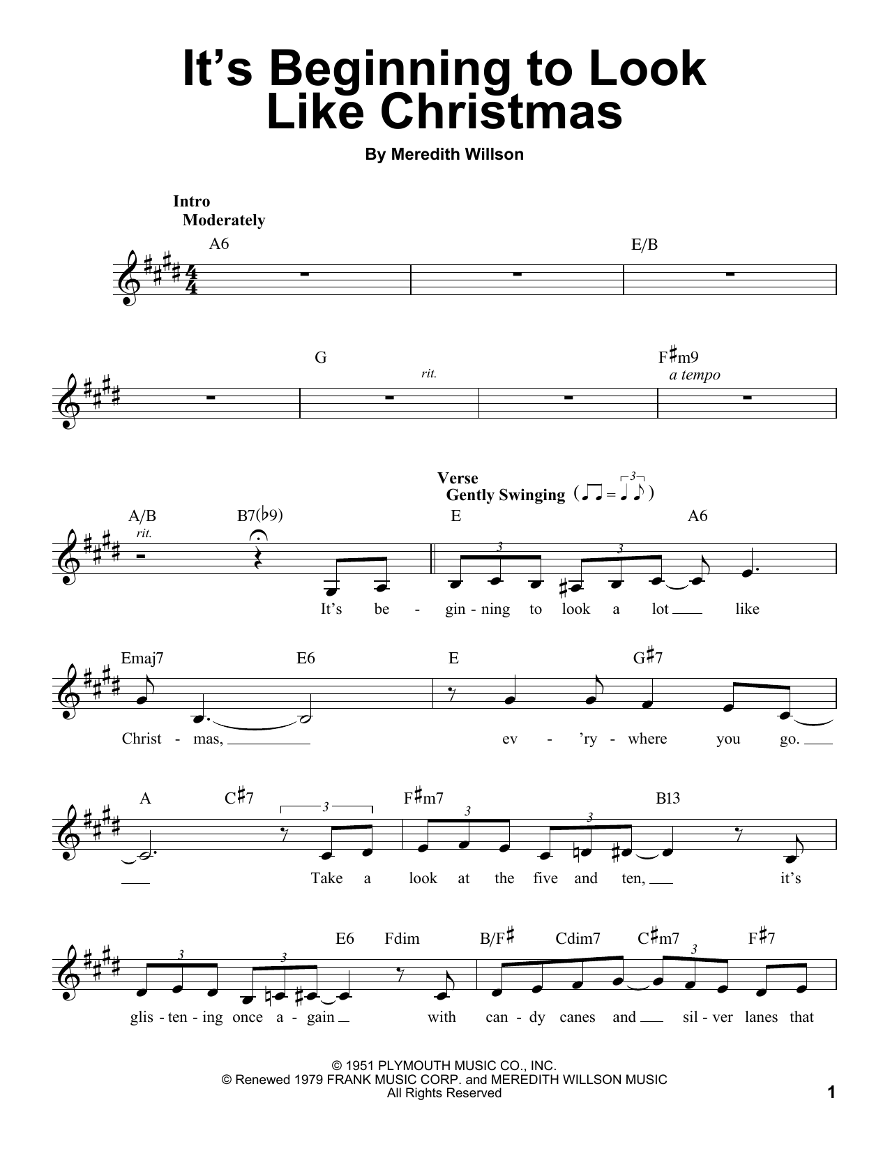 It\'s Beginning To Look Like Christmas Sheet Music | Michael Bublé ...