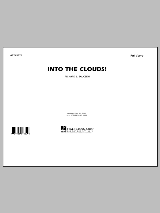 Into The Clouds! (COMPLETE) sheet music for marching band by Richard L. Saucedo. Score Image Preview.