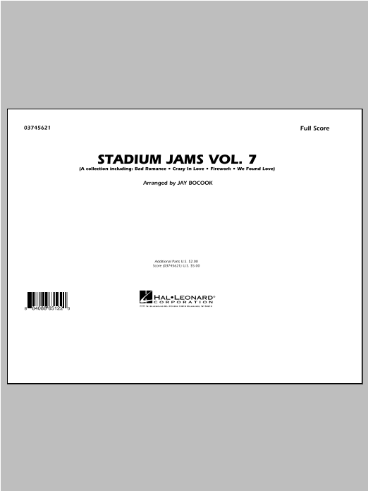 Stadium Jams Vol. 7 (Ladies Of Pop) - Full Score Sheet Music