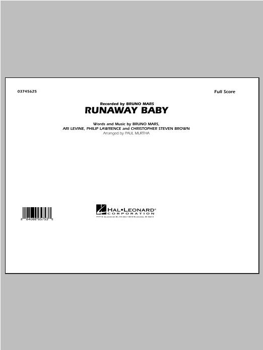 Runaway Baby - Full Score Sheet Music
