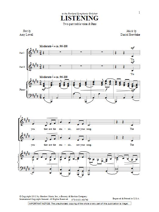 Listening (2-Part Choir)
