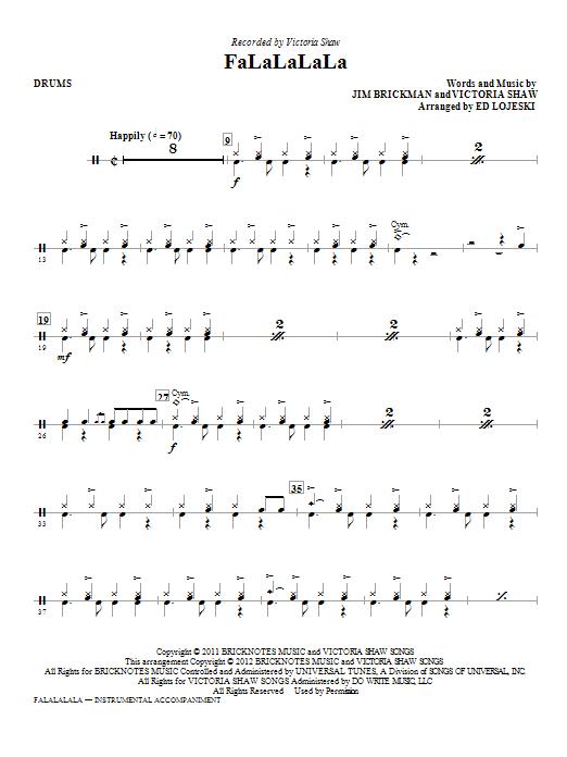 FaLaLaLaLa - Drums Sheet Music