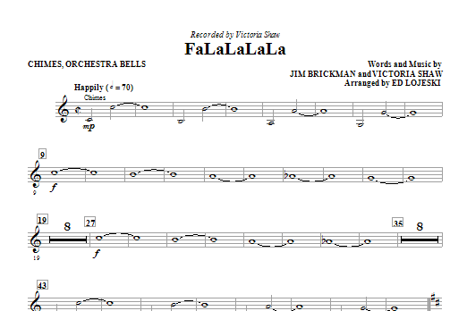 FaLaLaLaLa - Orch. Bells/Chimes Sheet Music