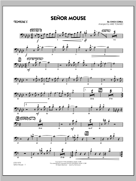 Senor Mouse - Trombone 2 Sheet Music