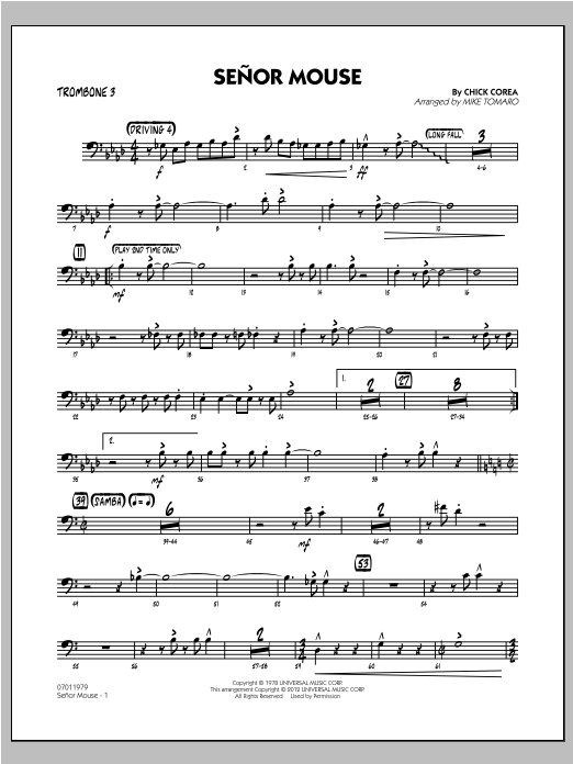 Senor Mouse - Trombone 3 Sheet Music