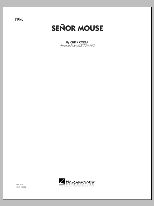 Senor Mouse - Piano Sheet Music