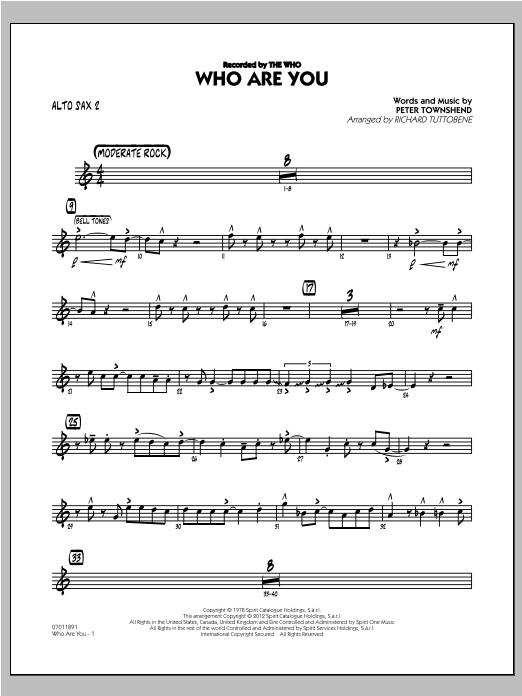 Who Are You - Alto Sax 2 Sheet Music