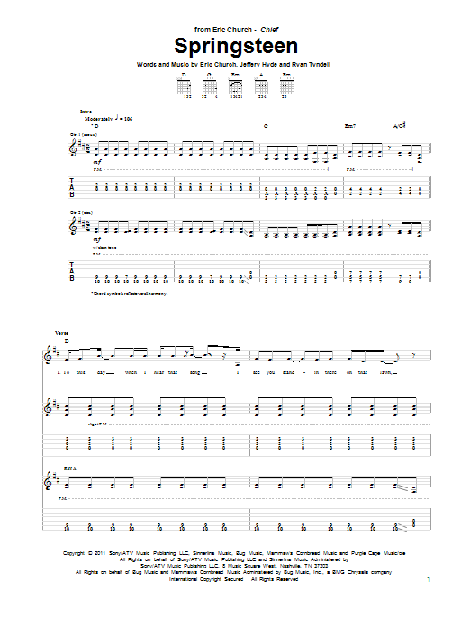Springsteen Sheet Music