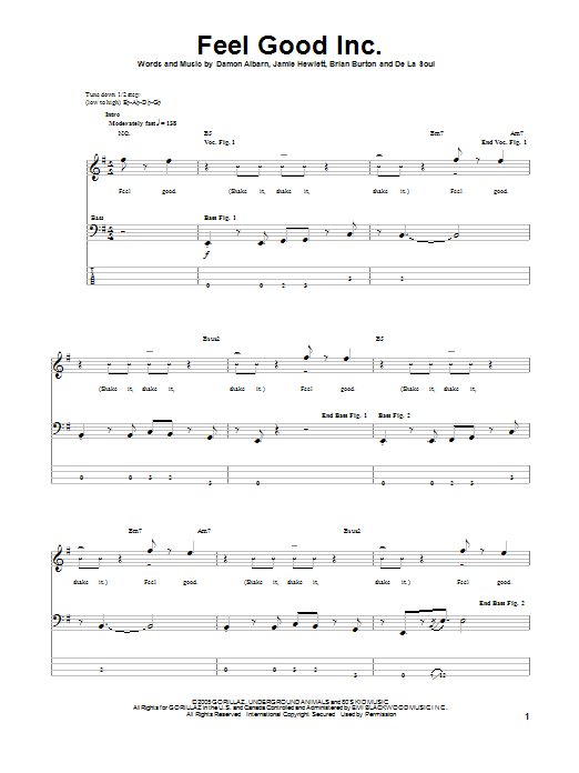 Feel Good Inc Sheet Music