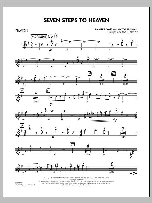 Seven Steps To Heaven - Trumpet 1 Sheet Music