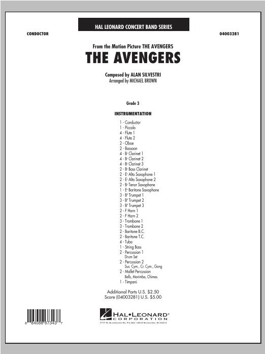 The Avengers - Full Score (Concert Band)
