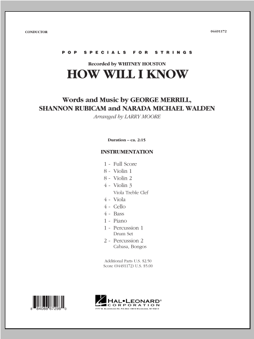How Will I Know - Full Score Sheet Music