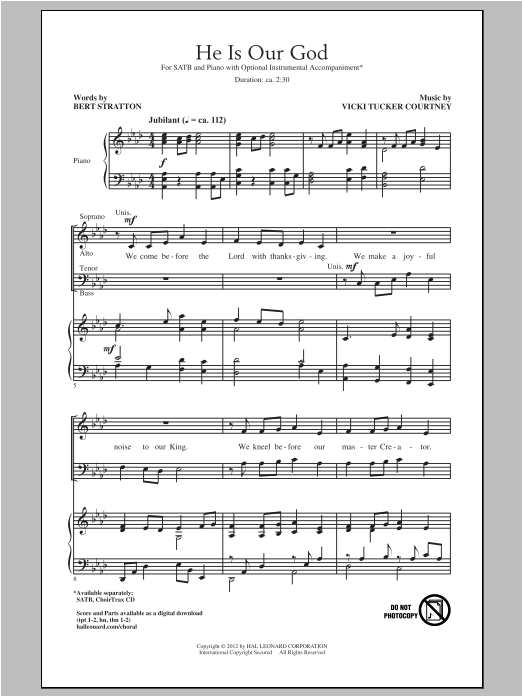 He Is Our God Sheet Music