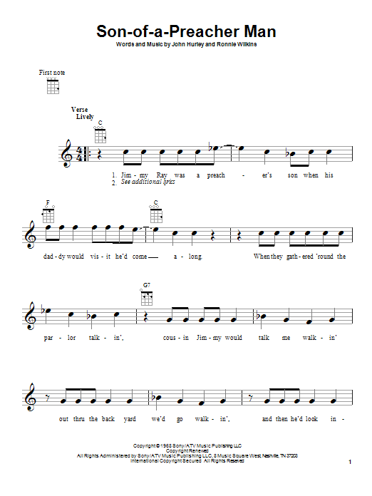 Son-Of-A-Preacher Man | Sheet Music Direct