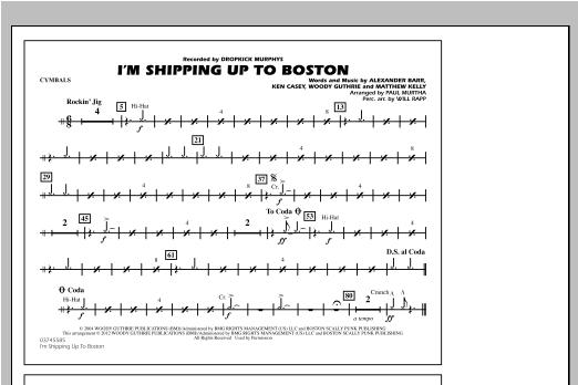 I'm Shipping Up To Boston - Cymbals Sheet Music