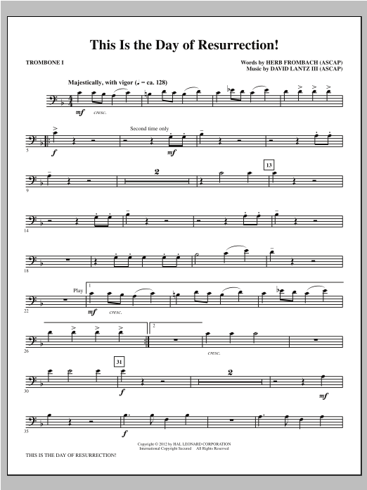 This Is the Day of Resurrection! - Trombone 1 Sheet Music