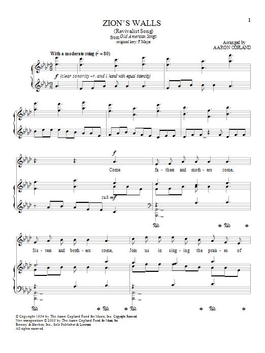 Zion's Walls (Piano & Vocal)