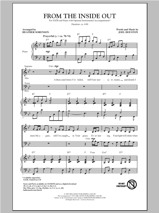 From The Inside Out (SATB Choir)