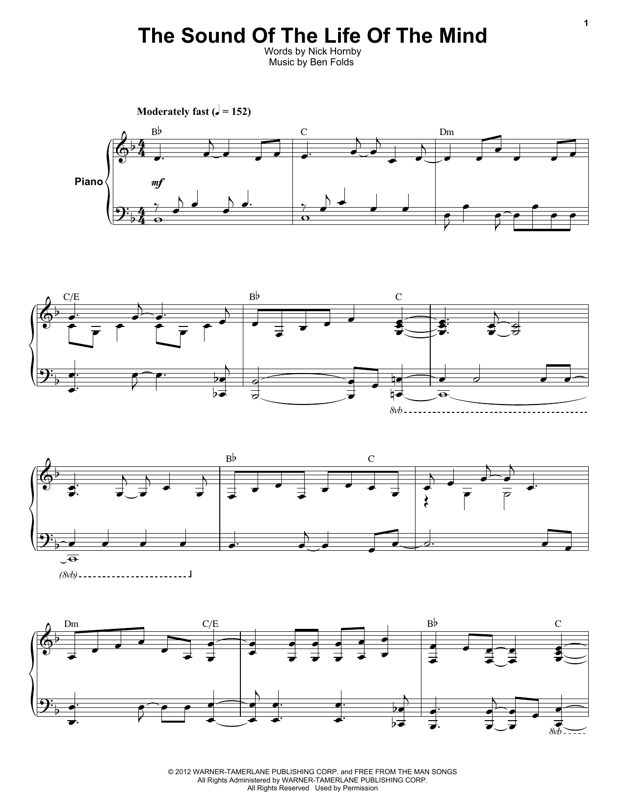 The Sound Of The Life Of The Mind (Keyboard Transcription)