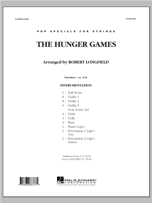 The Hunger Games (COMPLETE) sheet music for orchestra by Robert Longfield and James Newton Howard. Score Image Preview.
