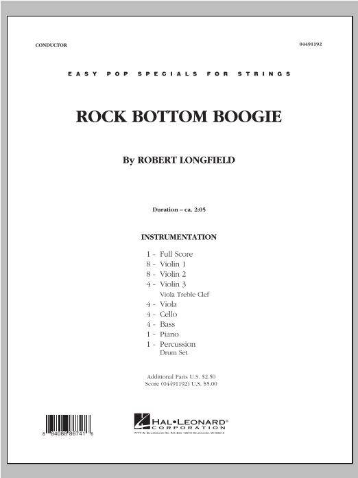 Rock Bottom Boogie - Full Score Sheet Music