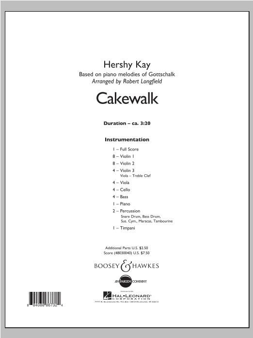 Cakewalk - Conductor Score (Full Score) Sheet Music