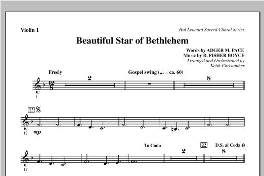 Beautiful Star Of Bethlehem - Violin 1 Sheet Music