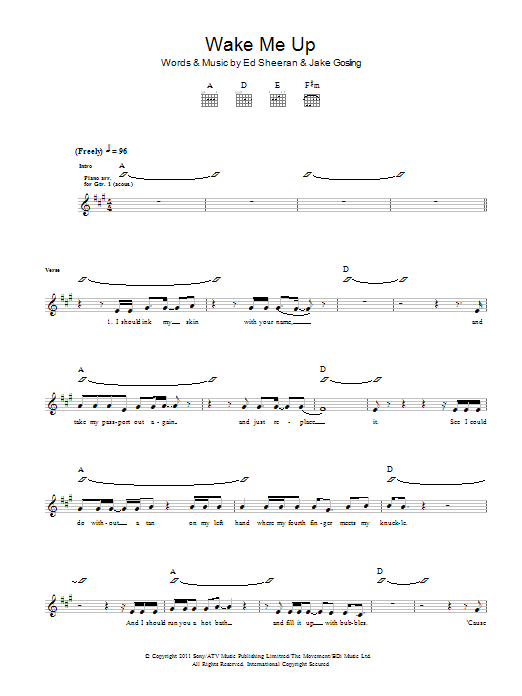 Wake Me Up | Sheet Music Direct