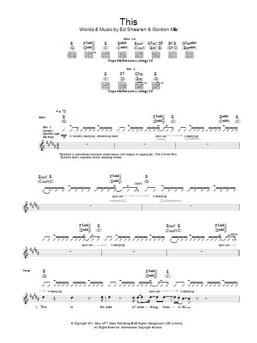 This Sheet Music