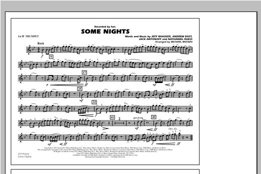 Some Nights - 1st Bb Trumpet Sheet Music