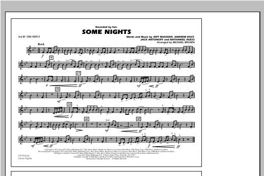 Some Nights - 3rd Bb Trumpet Sheet Music