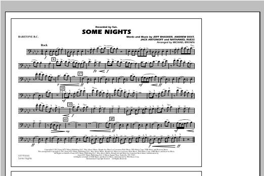 Some Nights - Baritone B.C. Sheet Music