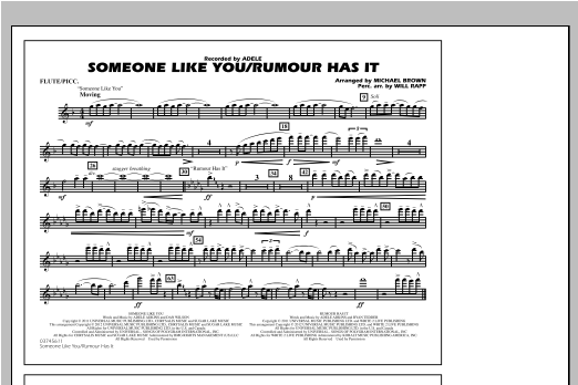 Someone Like You/Rumour Has It - Flute/Piccolo Sheet Music