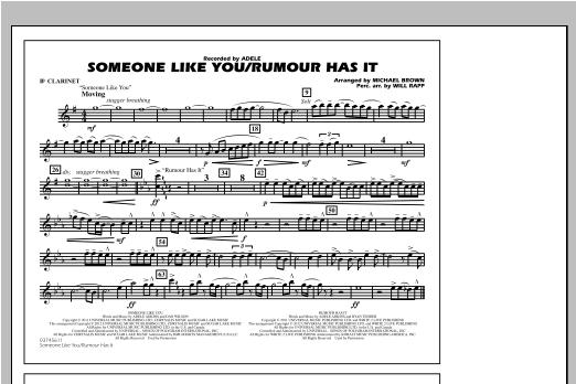 Someone Like You/Rumour Has It - Bb Clarinet Sheet Music