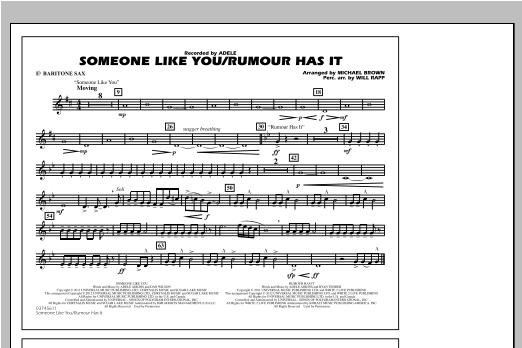 Someone Like You/Rumour Has It - Eb Baritone Sax Sheet Music