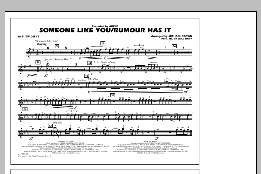 Someone Like You/Rumour Has It - 1st Bb Trumpet Sheet Music
