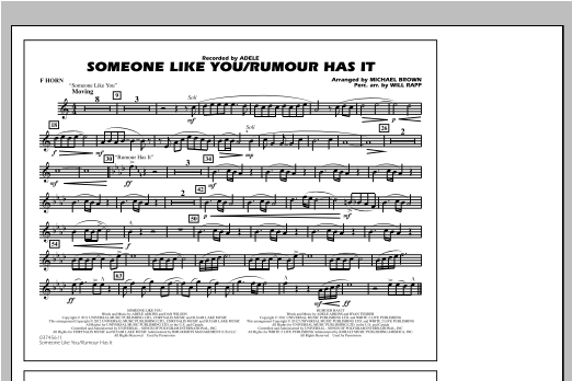 Someone Like You/Rumour Has It - F Horn Sheet Music