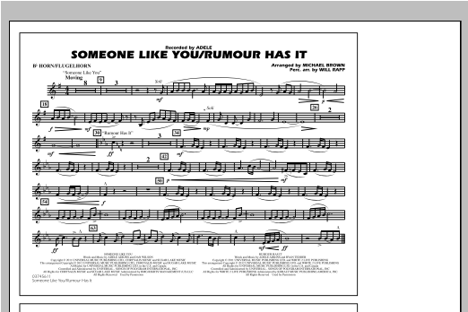Someone Like You/Rumour Has It - Bb Horn/Flugelhorn Sheet Music