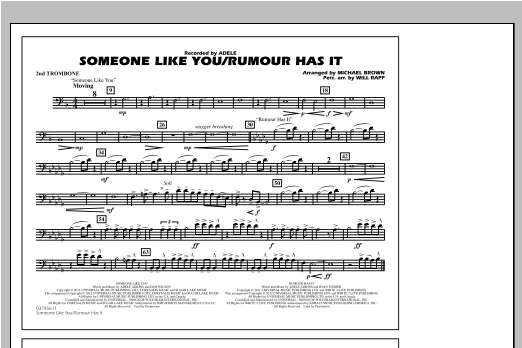 Someone Like You/Rumour Has It - 2nd Trombone Sheet Music