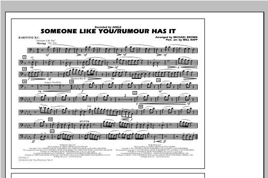 Someone Like You/Rumour Has It - Baritone B.C. Sheet Music