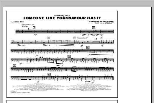Someone Like You/Rumour Has It - Electric Bass Sheet Music