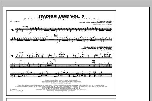 Stadium Jams Vol. 7 (Ladies Of Pop) - Bb Clarinet Sheet Music