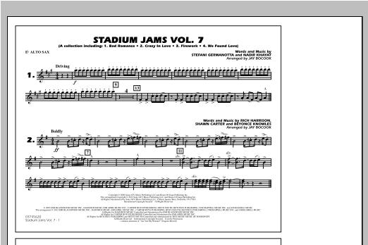 Stadium Jams Vol. 7 (Ladies Of Pop) - Eb Alto Sax Sheet Music