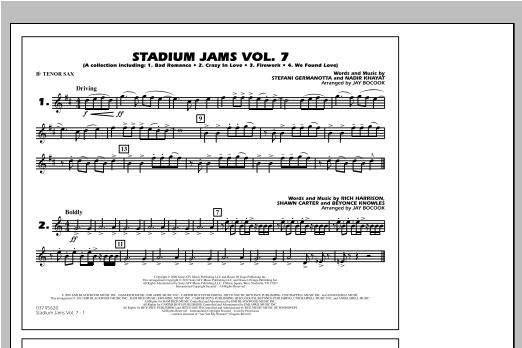 Stadium Jams Vol. 7 (Ladies Of Pop) - Bb Tenor Sax Sheet Music