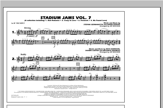 Stadium Jams Vol. 7 (Ladies Of Pop) - 1st Bb Trumpet Sheet Music