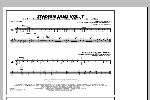 Stadium Jams Vol. 7 (Ladies Of Pop) - 2nd Bb Trumpet Sheet Music