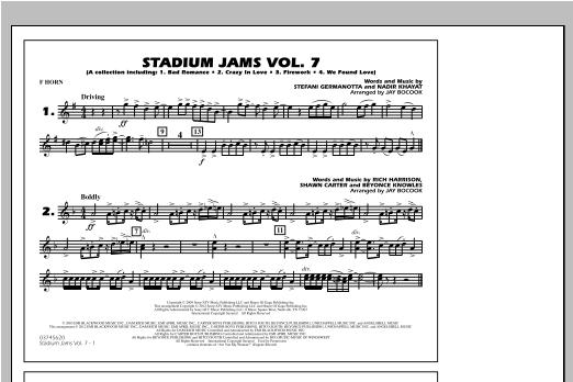 Stadium Jams Vol. 7 (Ladies Of Pop) - F Horn Sheet Music